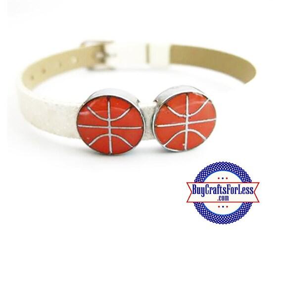 BASKETBALL for Slider Bracelet, Collars, Napkin Rings, Key Rings +FREE Shipping & Discounts*