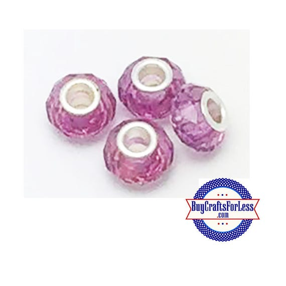 CLEARANCE - Acrylic Beads, RASPBERRY, 12 pcs   +Discounts & FREE Shipping*