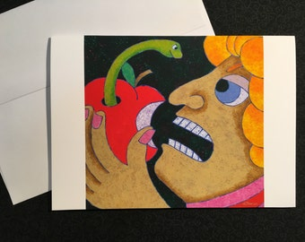 This Is MY Apple greeting card, blank note card