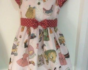 Vintage Inspired Girls Dress - Size 4