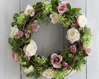 Easter Wreath Pink Rose