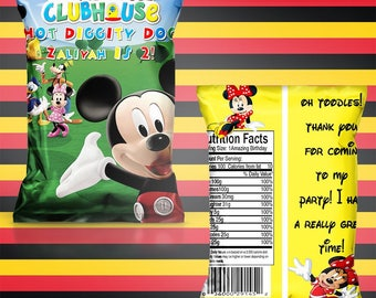 Mickey Mouse chip/treat bag(set of 15)