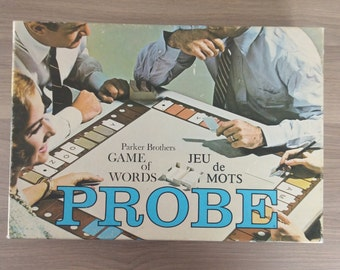 Probe Board Game - Vintage Parker Brothers - 1965 The Game of Words - Great Ole Family Game For Everyone