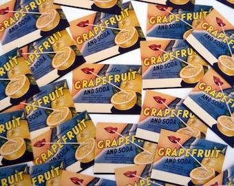 Vintage Grapefruit and Soda Drink Labels - 10