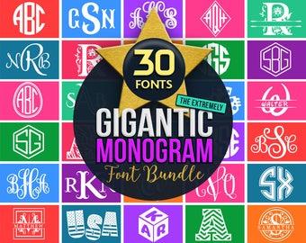Monogram Font Svg Monogram Bundle Svg Cricut Fonts Dxf Monograms Silhouette Cuttable Initial Letters Svg Vinyl Monogram download Cut Files