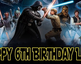 Star Wars Birthday Banner
