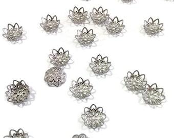 Stainless steel finding bead cap flower diy handcraft jewellery making
