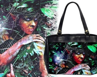 Fir Darrig - Leather HandBag - Dark Nymph