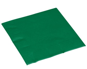 50-100 Emerald Beverage Disposable Napkin, Napkins, Wedding Napkins, Beverage Napkins, Wedding, Party, Wedding Supplies, Party Supplies