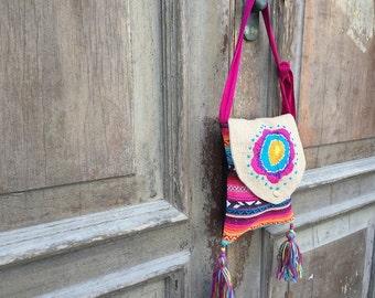 Hippie messenger bag/ gypsy festival bag / bohemian sling bag / boho sling bag / boho festival bag / hobo sling bag / hobo messenger bag