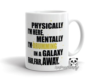 Funny Drummer Mug - Drumming In A Galaxy Far Away Mug