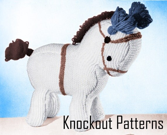 Knitting Pattern Toy Horse : PDF 1930s Horse Toy Knitting pattern, Pony Knitting ...