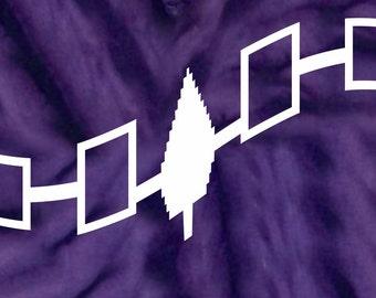 Iroquois Wampum Waving Flag Hoodie