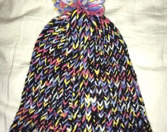 Pastel rainbow hat