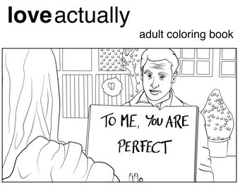 love actually coloring book printable download for adults christmas movie romantic comedy