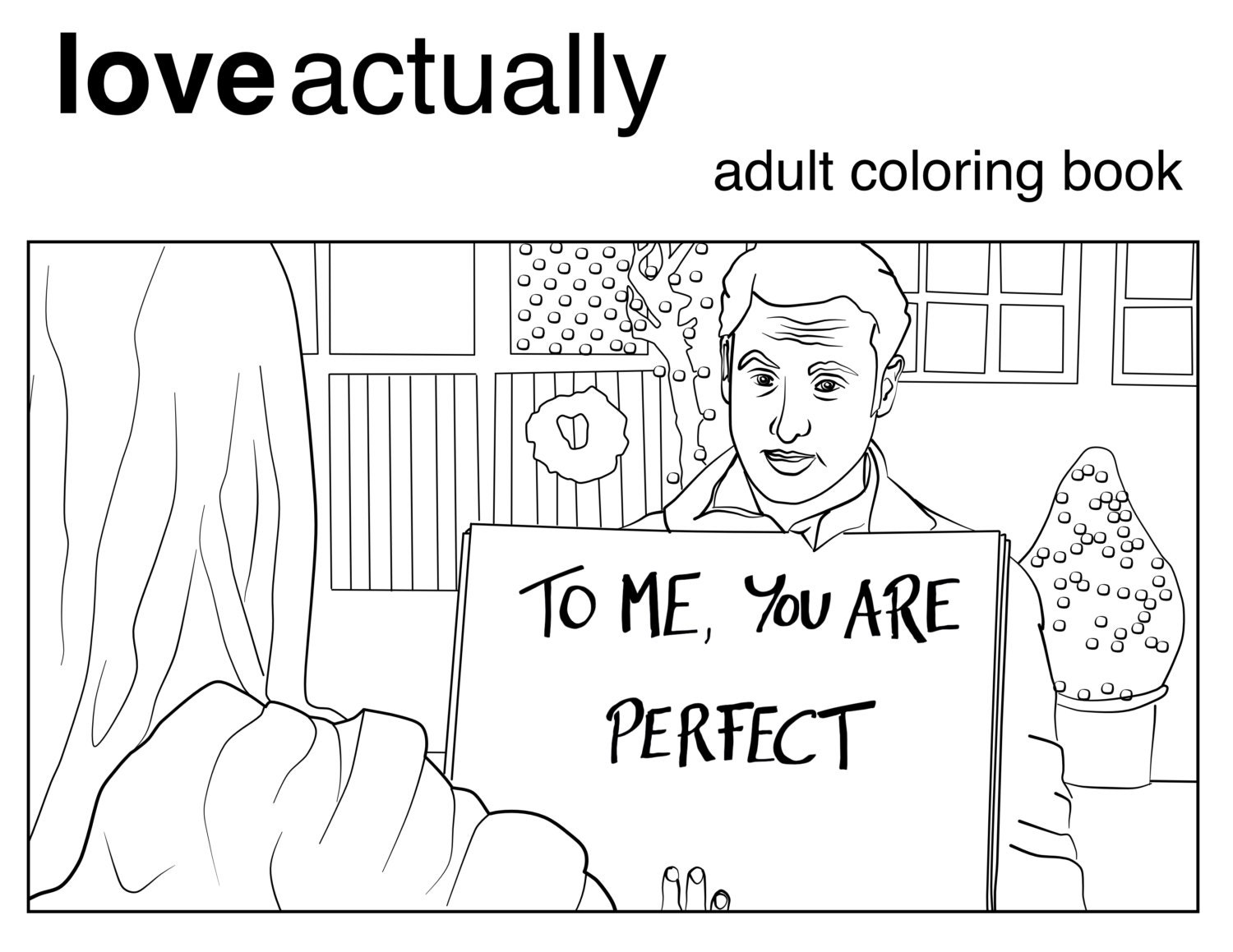 Coloring book download zip - Love Actually Coloring Book Printable Download For Adults Christmas Movie Romantic Comedy