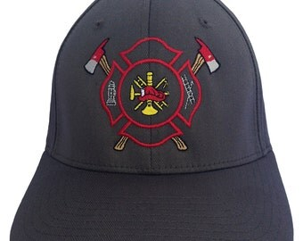 Fire Fighter Logo on a 6277 Flexfit - Structured Twill Cap