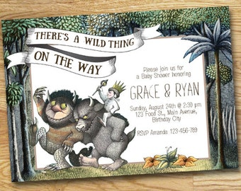 Where The Wild Things Are Baby Shower Invitation // Wild Rumpus Invitation // Wild Thing Baby Shower // Digital File Only