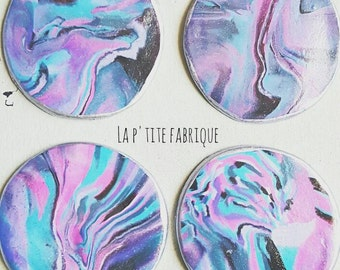 Galaxy coasters/Coasters/Polymer coasters/Set of 4 coasters