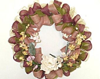 Free shipping, jute ribbon w/rose wire wreath