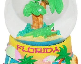 Florida Palm Trees Large 65mm Snowglobe
