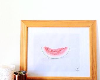 Watercolour Watermelon