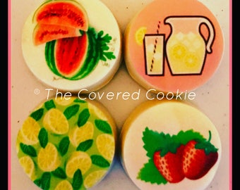 Summer-Themed Flavored Chocolate Covered Oreo Cookies