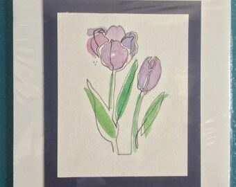 Continuous line tulip