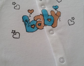 Handpainted baby clothes