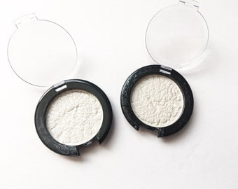 White Pearl Pressed Highlighter, Pressed Eyeshadow, Eye shadow, Vegan highlighter, white highlighter, silver highlighter, free shipping
