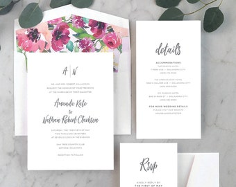 Simply Modern Wedding Invitations