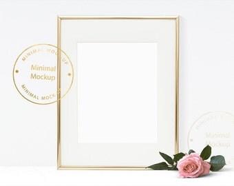 Frame Mockup, 8x10 frame mockup, rose, love, pink, gold, art, modern frame mockup, print mock up, minimal, digital, quotes, photography