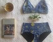 Bra and Panty Set, Starry Night Van Gogh
