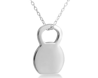 Elegant Kettlebell Pendant with Silver Chain