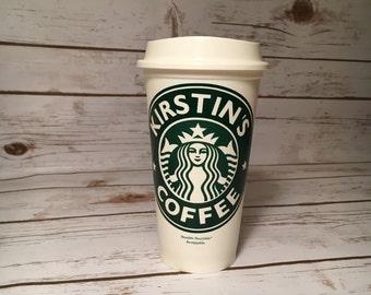 Personalized Starbucks Travel Cup, Starbucks Travel Mug, Custom Starbucks