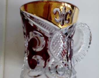 Ruby Stained Glass - Cup/Mug - Arched Fleur-de-Lis
