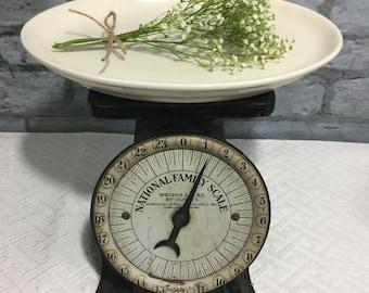White Ironstone Homer Laughlin Platter ~ Small Ironstone Platter
