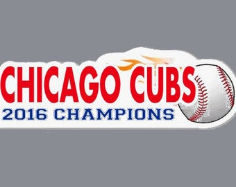 CHICAGO CUBS 2016 CHAMPIONS Sticker