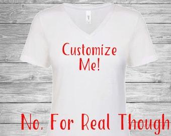 Custom Text Women's T-Shirt