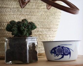 Enamel Bowl Fish Set of 2