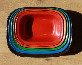 1950's Enamel Dishes Set