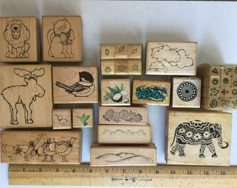 Animal and nature stamps