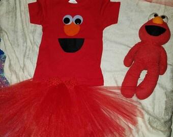 Elmo shirt and tutu