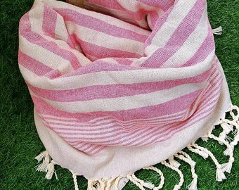Turkish BATH Towel Peshtemal - natural / organic cotton / %100 cotton Beach, Spa, Swim, Pool Towels and Pareo