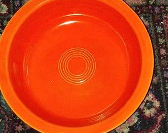 Vintage red/orange Fiestaware bowl ca. 1936-37