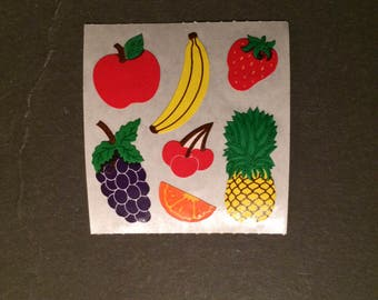 Sandylion vintage rare kromekote fruit stickers