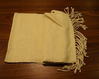 Cream Silk Thai Scarf