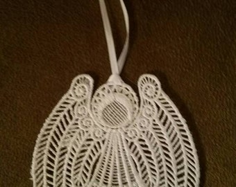 Freestanding Embroidered Angel Bookmark