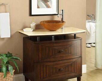 Verdana 36-inch Vessel Sink Vanity Q0136-1