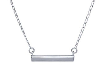 Sterling Silver Rectangle Bar Festoon Necklace